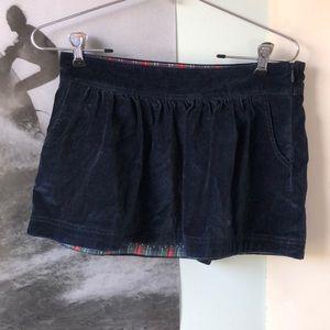 Abercrombie kids velvet skirt